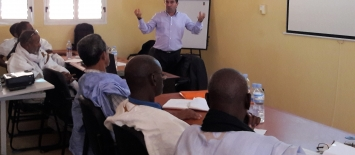 Khalil Bahloul, expert de l'IIPE-UNESCO Dakar PEFOP au cours du lancement du PASET agro-silvo-pastoral à Kaedi -– 10 nov 2016