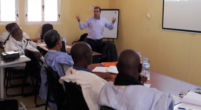 Khalil Bahloul, expert de l'IIEP-Pôle de Dakar PEFOP au cours du lancement du PASET agro-silvo-pastoral à Kaedi -– 10 nov 2016