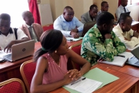 Burkinabè stakeholders carrying out their diagnosis