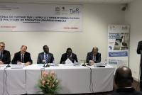 Ouverture de l'atelier autour du Ministre chargé de l'enseignement technique et de la formation profesionnelle du Togo, M. Georges Kwawu Aïdam